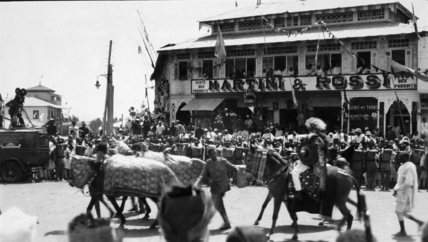 Coronation procession in Addis Ababa