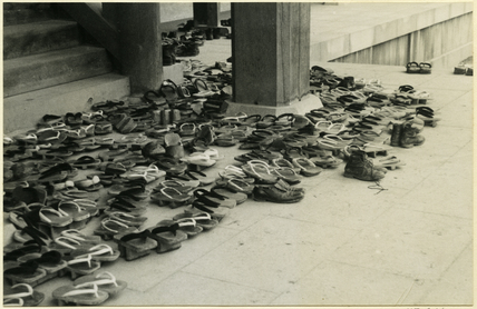 3434df59404e Shoes outside a temple by George Dixon Aked at Pitt Rivers Museum Prints