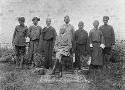 Sir Charles Bell with private servants, Lhasa
