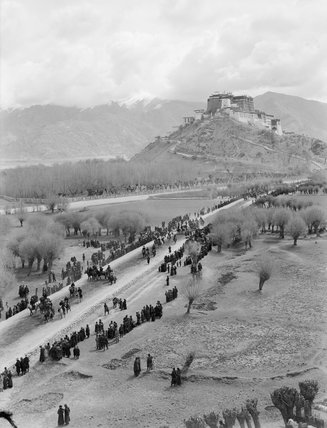 Potala from south west with procession