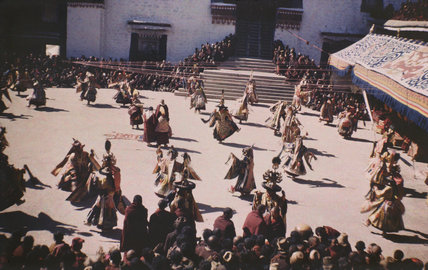 Cham dance in Potala Palace
