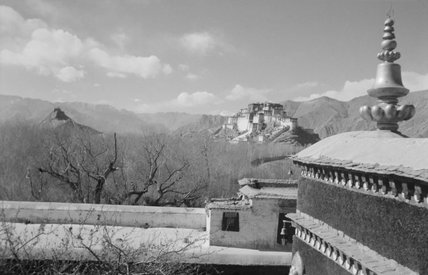 Potala as seen from roof of Kundeling Monastery