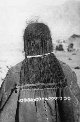 Horpa woman showing hair and textile hair extension