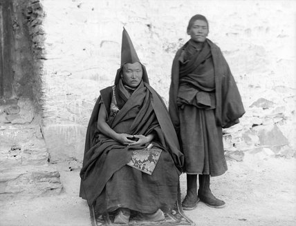 Priest from hermitage above Gyantse