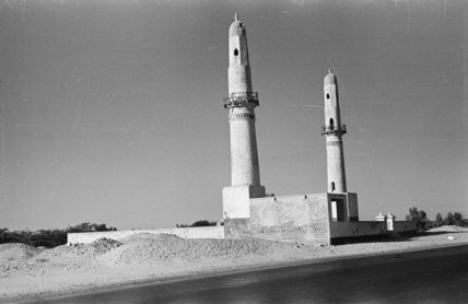 View of the twin minarets ...