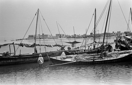 View of dhows (sailboats) on ...