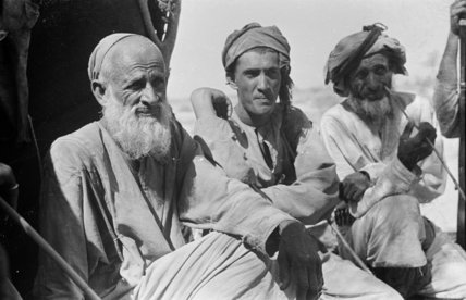 Seated portrait of three Wahiba ...