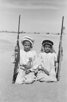 Seated portrait of two young ...