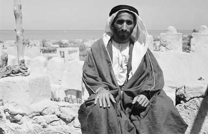 Seated portrait of Sheikh Saqr ...