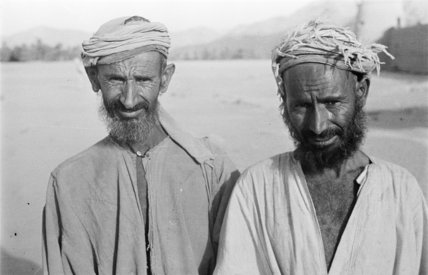 Portrait of two Yam Bedouin ...