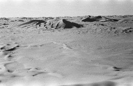 View of large, isolated dunes ...