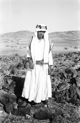 Full length portrait of Mabarak ...