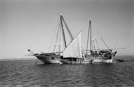Side view of two dhows ...