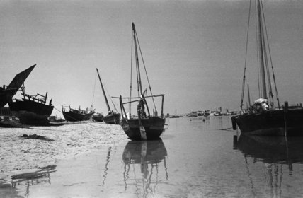 View of two dhows (sailboats) ...