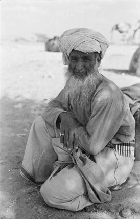 Seated portrait of the Imam ...