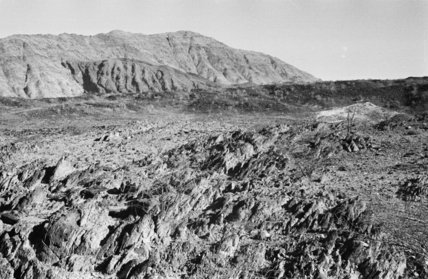 View of volcanic landscape in ...