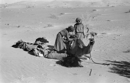 View of two Bedouin men ...