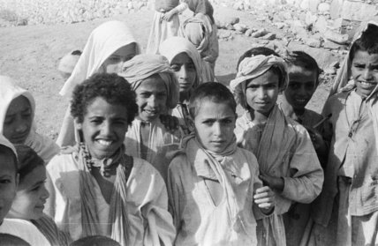Group portrait of Arab boys ...