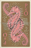 P&O Playing card with Seahorse design