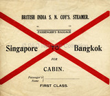 B.I. Baggage Label - Singapore to Bangkok