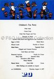 Children's Tea Party menu from CANBERRA