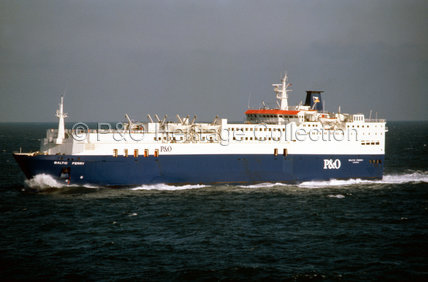 BALTIC FERRY in the North Sea