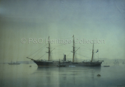 CEYLON at anchor in Southampton Water