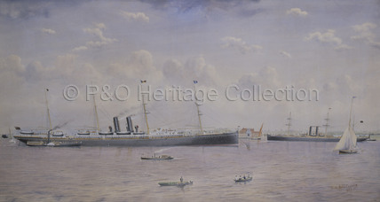 VICTORIA in the Thames at Tilbury