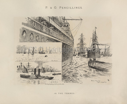 In the Thames' - Sea Reach, In the Docks