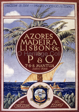 A Cruise in May by P&O's MANTUA , 1914