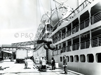 STRATHMORE loading at Adelaide
