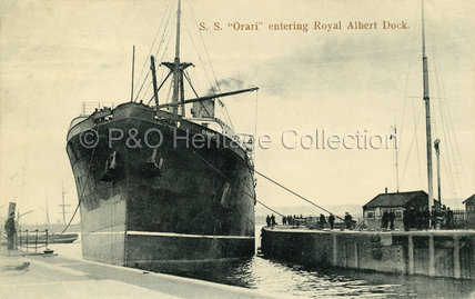 ORARI entering Royal Albert Dock
