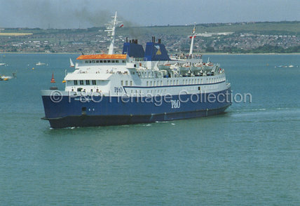 PRIDE OF CHERBOURG near land