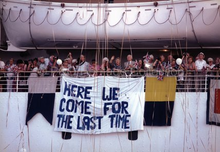 Passengers on CANBERRA's final voyage