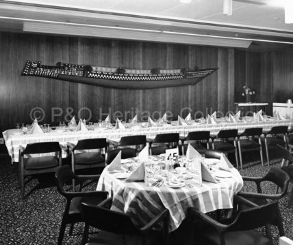 CANBERRA's First Class Pacific Dining Room