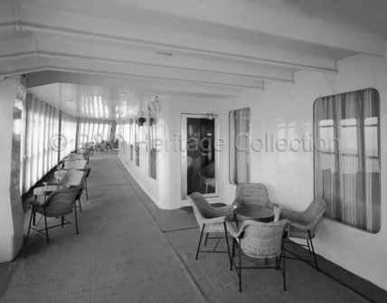 CANBERRA's enclosed Promenade Deck