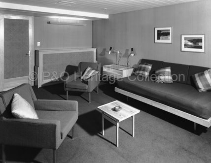 CANBERRA's 'B' Deck First Class deluxe cabin