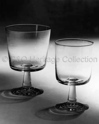 Two wine glasses from CANBERRA