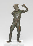 Greek figure of Herakles, from a drinking vessel