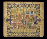 Lohrasp Enthroned, from the Shahnameh