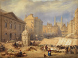 Cambridge Market Place, 1841, by Frederick MacKenzie