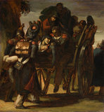 Wounded Soldiers in a Cart, by Gericault