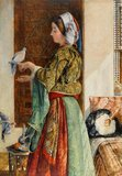 Caged Doves, Cairo, by John Frederick Lewis