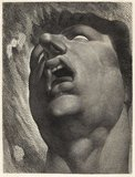 Head of a Damned Soul, by William Blake, after Henry Fuseli