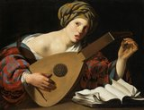 Young musician tuning a lute, by Hendrick Terbrugghen