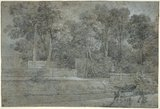 In the Gardens of Arcueil, by Jean-Baptiste Oudry