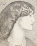 Mrs William Morris, by Rossetti