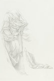 Drapery study for 'Merlin and Vivien', by Burne-Jones