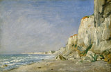 Cliffs near Dieppe, by Adolphe Felix Cals