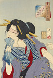 Aspect of a prostitute of the Kansei Era, by Yoshitoshi